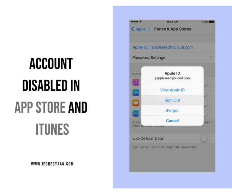 Account disabled in App Store and iTunes