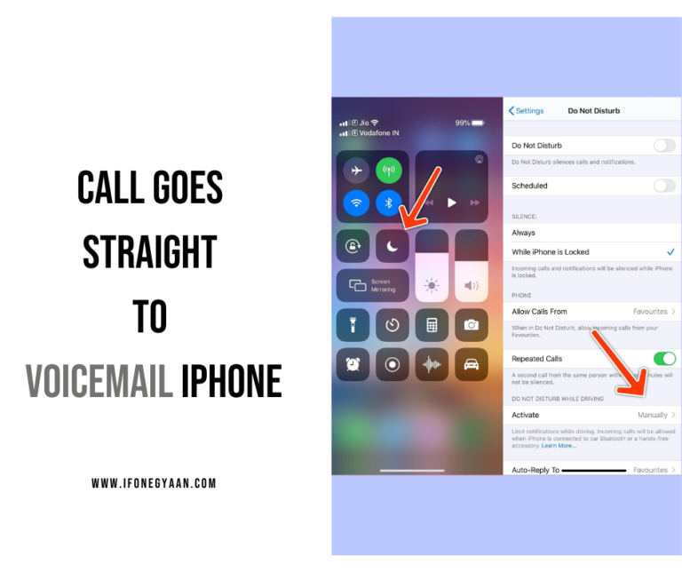 Call goes straight to voicemail iPhone