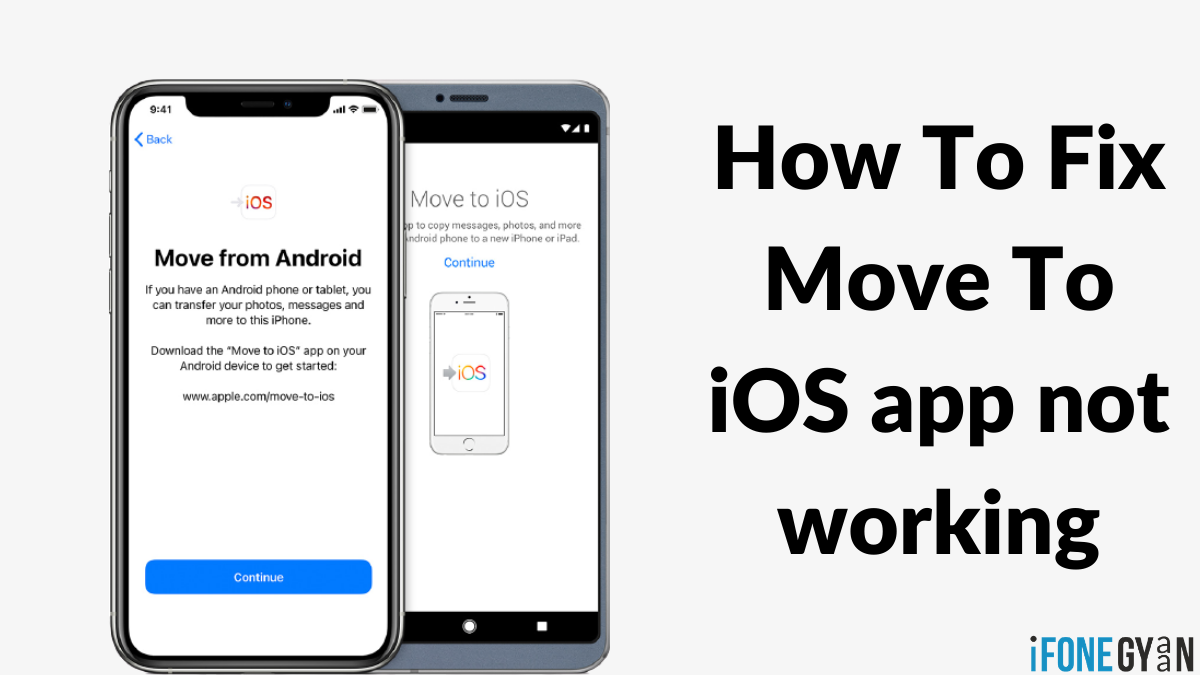 Move To iOS app not working