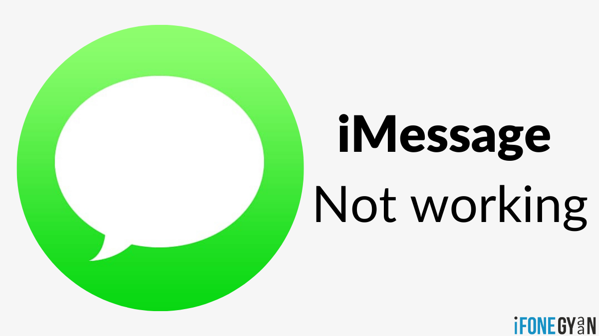 iMessage Not working